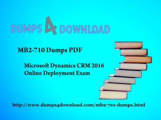 Microsoft Dynamics CRM MB2-710 Exam Updated Exam Questions