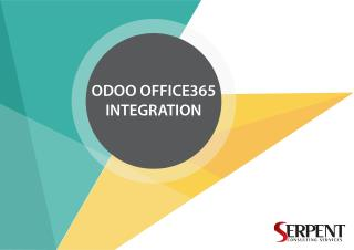 Connect Odoo to Office 365 Integration-Serpentcs