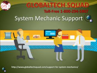 System Mechanic Support From GlobalTech Squad