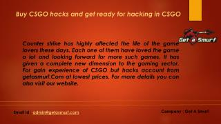 Buy CSGO hacks and get ready for hacking in Counter Strike games