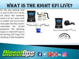 What Is the Right EFI Live?