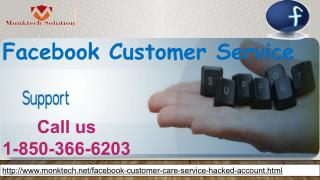 Why should I go for Facebook Customer Service?Call 1-850-366-6203