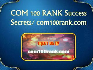 COM 100 RANK Exciting Results / com100rank.comx