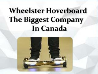 Wheelster Hoverboard The Biggest Company In Canada