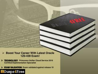 Oracle 1Z0-439 Dumps - Tips to Pass 1Z0-439  Exam in first Attempt