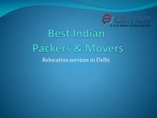 Best Relocation services in delhi