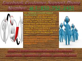 Will Facebook Customer Support Phone Number:- 1-850-792-2491 team really provide me the instant solution?