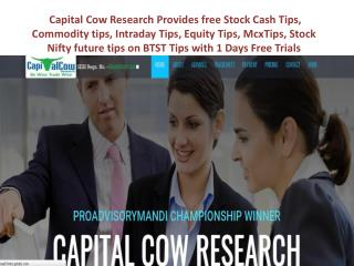 Capital Cow Research- Equity Tip, Stock Cash Tip, Stock future, Commodity Tip