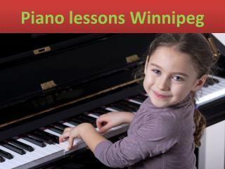 Piano lessons Winnipeg
