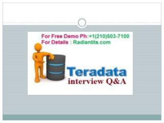 Tera Data online training