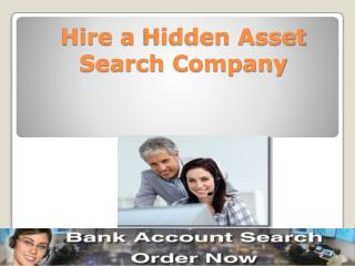 Hire a Hidden Asset Search Company