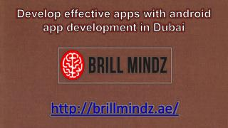 Android app developers in Dubai