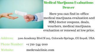 Medical Marijuana Evaluations Denver