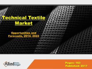 Technical Textile Industry- Global Market, Analysis 2022