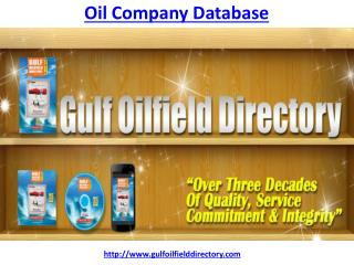 How to know more about Oil Company Database