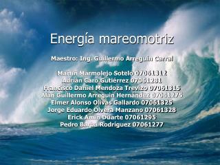 Energ a mareomotriz