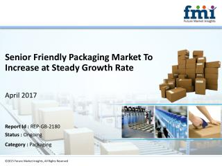 Senior Friendly Packaging Market Analysis, Trends, Forecast, 2016-2026