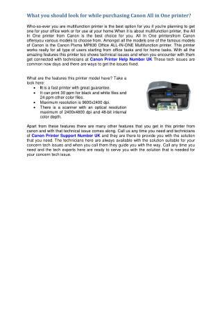 Canon Printer Help Number UK 0800-090-3228 Canon Printer Helpline Number UK