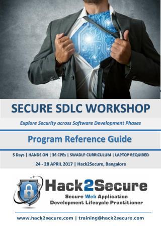 Hack2Secure SECURE SDLC Workshop