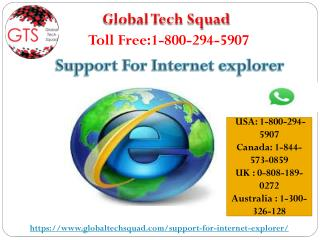 Internet Explorer Support Toll-Free:1-800-294-5907