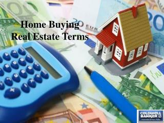 Home Buying Real Estate Terms