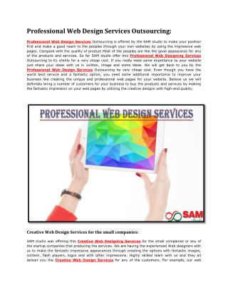Professional Web Design Services Outsourcing