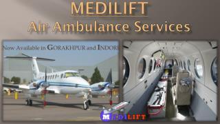 Get Quick Air Ambulance Service in Gorakhpur by Medilift