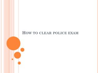 police exam coaching Centre in Chennai
