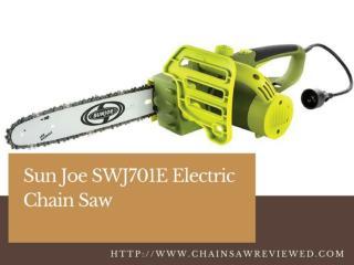 Sun Joe SWJ701E  Electric Chainsaw Review
