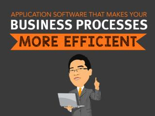 Application Software that Makes Your Business Processes More Efficient
