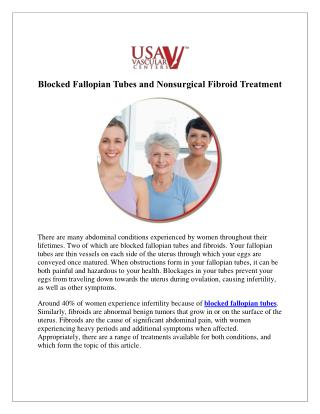 Blocked Fallopian Tubes and Nonsurgical Fibroid Treatment