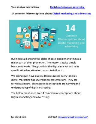 14 common Misconceptions about Digital marketing and advertising
