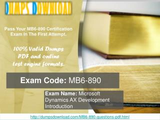 Dumpsdownload MB6-890 Exam Questions