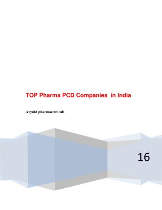TOP Pharma PCD Companies  in India
