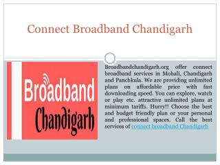 Connect Broadband Services Chandigarh