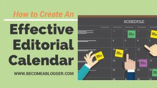 How to Create an Effective Editorial Calendar