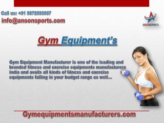 Find Best Gym Products with Fitness and Exercise Equipments Manufacturers India