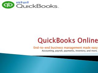QuickBooks Online Overview