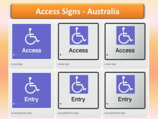 Access Signs -  Braille Sign Distributors