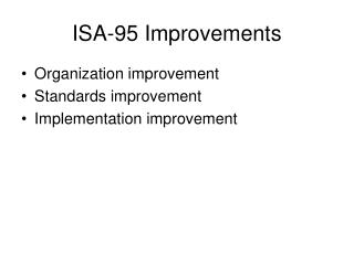 ISA-95 Improvements