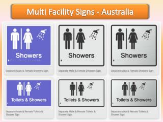 Multi Facility Signs -  Braille Sign Distributors
