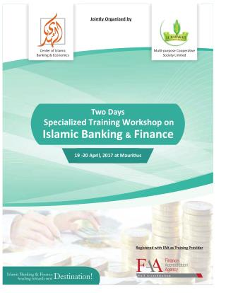 Specialized Training Workshop on Islamic Banking & Finance