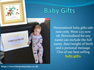 Baby Name Gifts