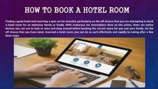 How to book a hotel room