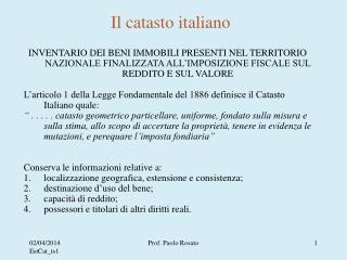 Il catasto italiano
