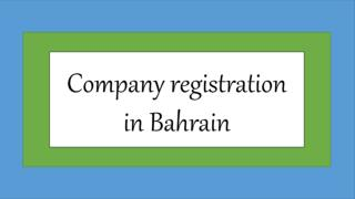 Company registration in Bahrain