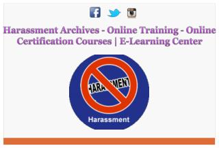 Harassment Archives - Online Training