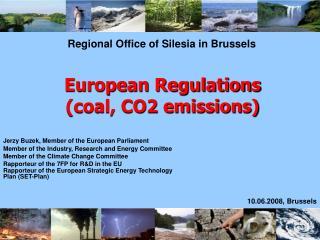 European Regulations  coal, CO2 emissions