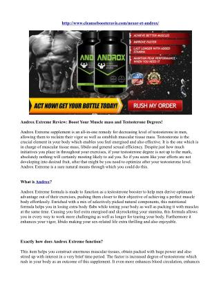 Androx Extreme Review: Boost Your Muscle mass and Testosterone Degrees!