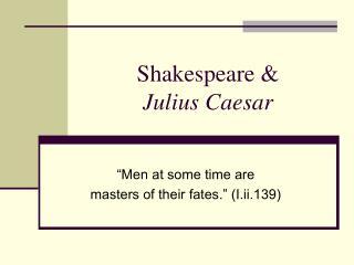 Shakespeare   Julius Caesar